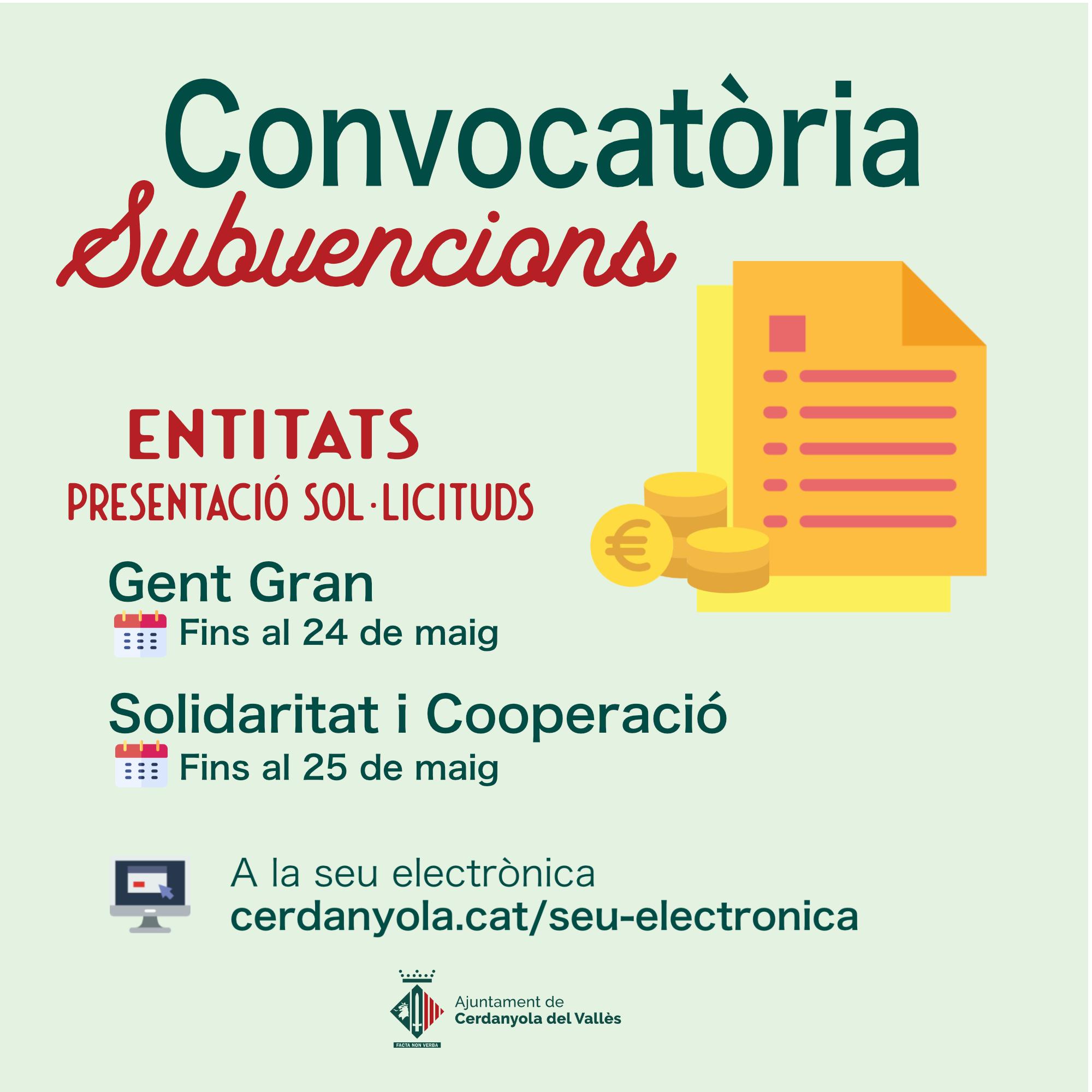 Imatge convocatòria subvencions entitats
