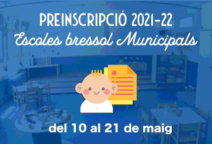 Imatge Preinscripció escoles bressol municipals 2021-22