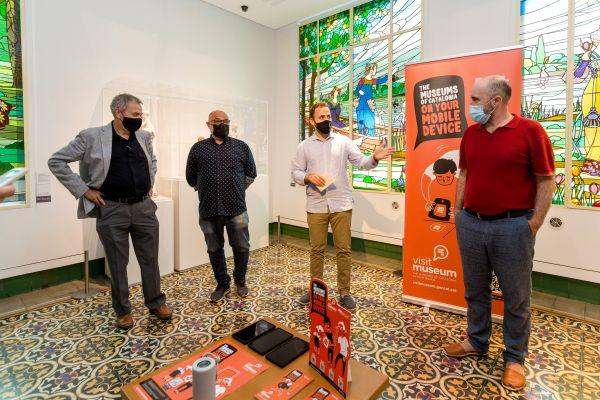 D'esquerra a dreta: Josep Manuel Rueda, Oscar Pons, Carlos Cordón i Txema Romero