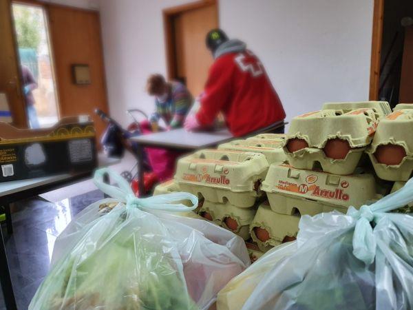 El lliurament d'aliments s'ha hagut d'incrementar per les conseqüències de la pandèmia