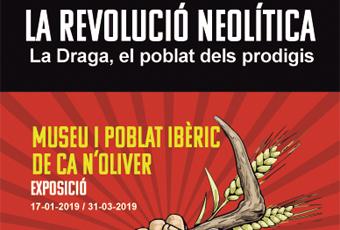 Part del cartell de l'exposició 'La revolució neolítica. La Draga, el poblat dels prodigis'