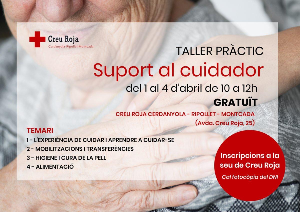 Cartell del taller 'Suport al cuidador/a'