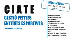 Curs d'Iniciació a Tècnic/a d'Esport (CIATE)