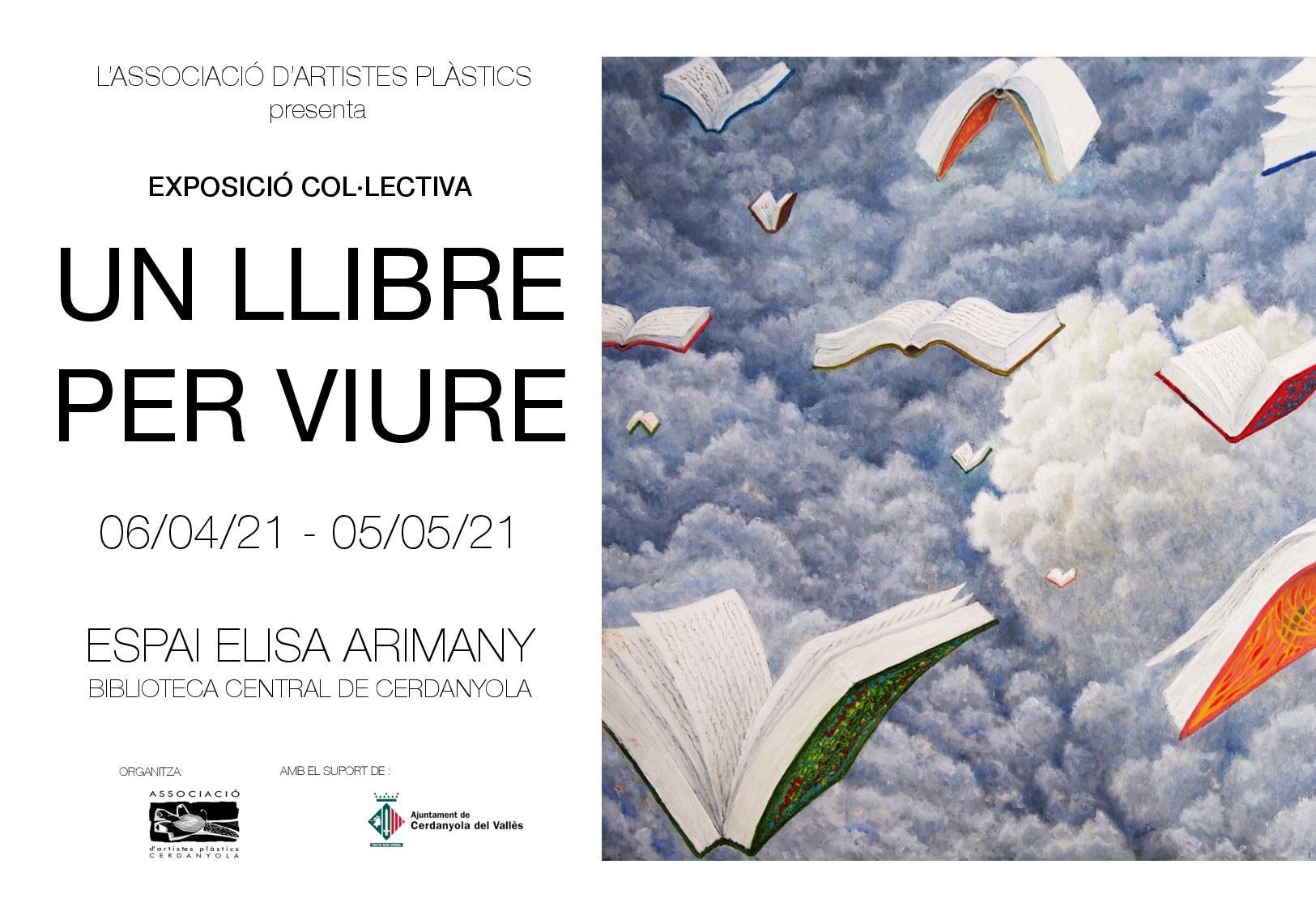 Imatge del cartell de l'exposició 'Un llibre per viure'