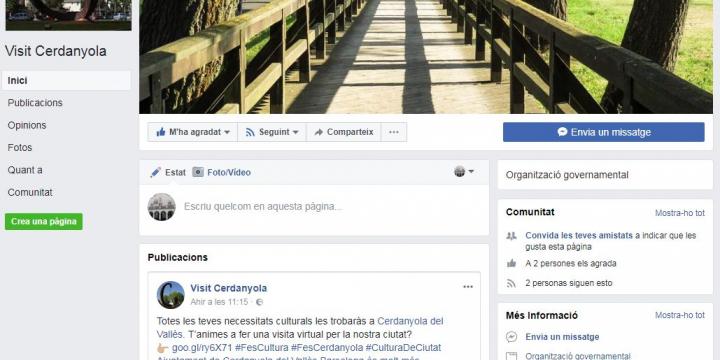 Captura de la pàgina Facebook de Visit Cerdanyola