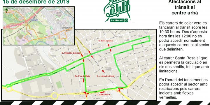 Mapa amb les afectacions a la mobilitat