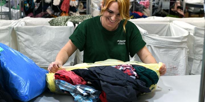 Moment de la classificació del tèxtil