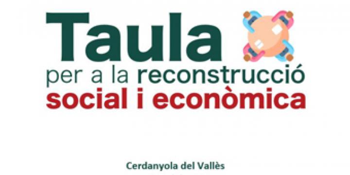Imatge Taula de Reconstrucció social i econòmica