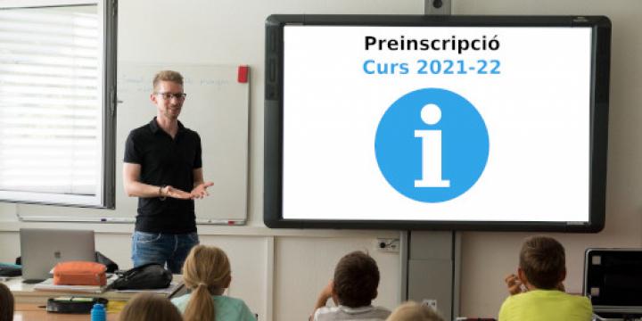 imatge Preinscripció curs 2021-22