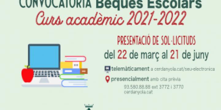 Imatge convocatòria beques Escolars 2021-22