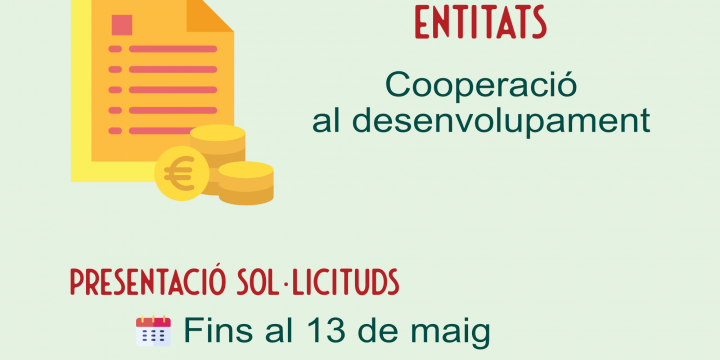 convocatòria subvencions cooperació al desenvolupament