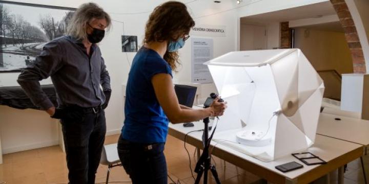 Moment del procés de digitalització en 3D (Foto: Núria Puentes)