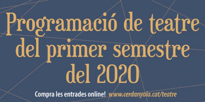 Programació de Teatre Ateneu del primer semestre del 2020
