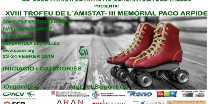 XVIII Trofeu de l'Amistat de patinatge