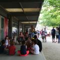 Aquest matí els infants es distribuïen per grups d'edat
