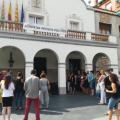 Concentració a la porta de l'Ajuntament