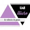 Logo antiviolència per raó de gènere de l'Observatori per a la Igualtat de la UAB