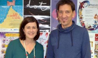 Elvi Vila, regidora de Serveis Socials, i Jordi Prat, apoderat Fundació Autònoma Solidària