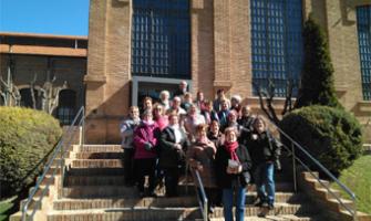 Fotografia de grup de la visita al Museu de les Aigües