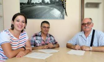 Laura Benseny, Paulino García (vicepresient) i Antonio Mancebo