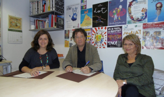 Signatura del conveni amb Barcanova