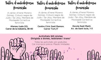 Opuscle amb la informació del dijous feminista
