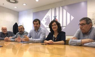 Moment de la roda de premsa de presentació del Premi Solidari