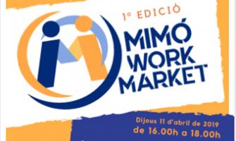 Detall del cartell del Mimó Work Market