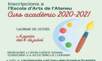 Imatge inscripcions Escola Arts Ateneu