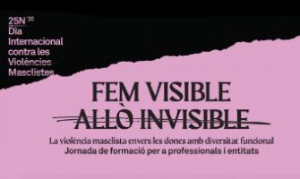 Imatge de la Jornada de formació Fem visible allò invisible