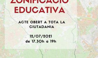 Cartell xerrada 'La zonificació educativa'
