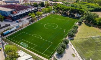 foto aèria del camp de futbol de La Bòbila